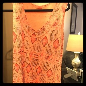 Fresh Produce orange sleeveless dress